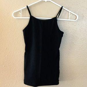Girl's black tank top